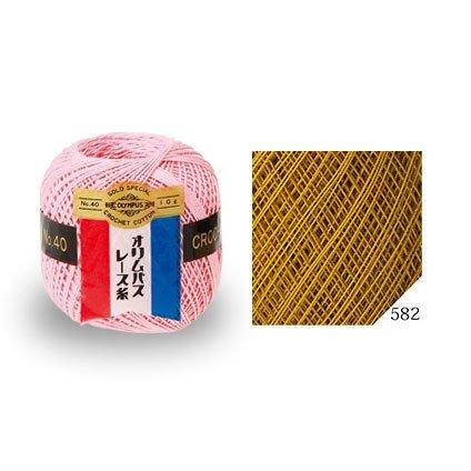 オリムパスレース糸 金票 40番 col.582(3玉入x10g) 【参考画像1】