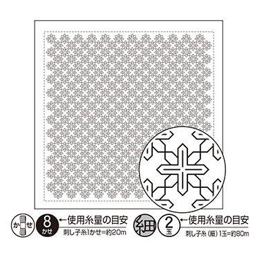 オリムパス 花ふきん 布パック 鉄線 白 H-1089 【参考画像1】