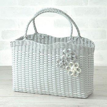 ハマナカ エコクラフト 手芸キット コサージュ付のA4サイズのバッグ H360-219