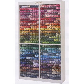コスモ刺繍糸 25番 全500色×12本 6000本セット 専用ケース付き