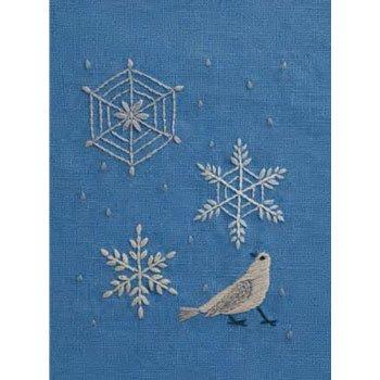 DMC 刺繍キット 雪の結晶 1月 JPT39 マカベアリス刺繍カレンダー