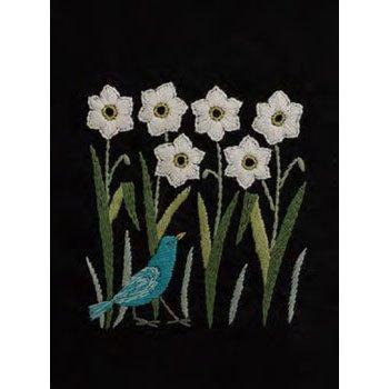 DMC 刺繍キット 早春のかおり 2月 JPT40 マカベアリス刺繍カレンダー