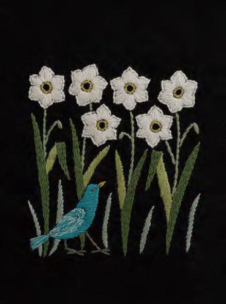 DMC 刺繍キット 早春のかおり 2月 JPT40 マカベアリス刺繍カレンダー 【参考画像2】
