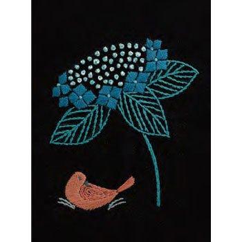 DMC 刺繍キット 紫陽花と雨宿り 6月 JPT44 マカベアリス刺繍カレンダー