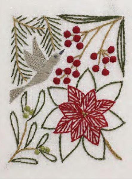 DMC 刺繍キット 冬の彩り 12月 JPT50 マカベアリス刺繍カレンダー 【参考画像2】