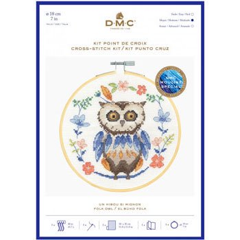 DMC 刺繍キット OWL BK1925 FOLK ANIMALS