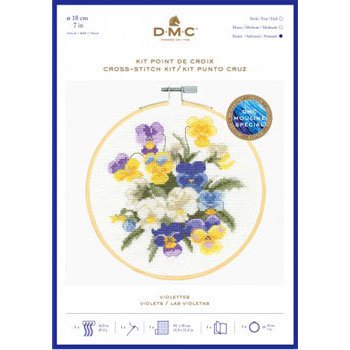 DMC 刺繍キット VIOLETTES BK1937 VINTAGE FLOWERS
