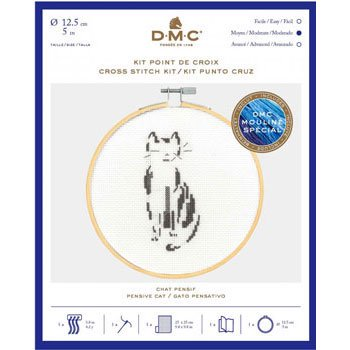 DMC 刺繍キット Pensive Cat BK1881 CATS&DOGS