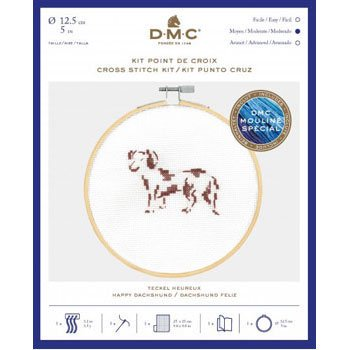 DMC 刺繍キット Happy Dachshund BK1885 CATS&DOGS