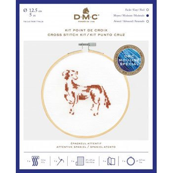 DMC 刺繍キット Attentive Spaniel BK1886 CATS&DOGS