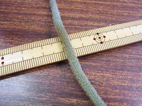 カラーマスクゴム 平5mmタイプ パステルカラー グレー No.281 抗菌防臭加工 【参考画像1】