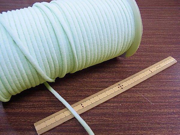 カラーマスクゴム 平5mmタイプ パステルカラー ブルー No.283 抗菌防臭加工 【参考画像3】
