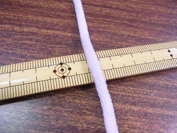カラーマスクゴム 平5mmタイプ パステルカラー パープル No.285 抗菌防臭加工 【参考画像1】