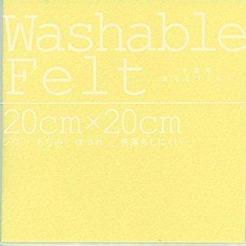 ミササ ウォッシャブルフェルト 1mm 20cm角 col.9208 クリーム