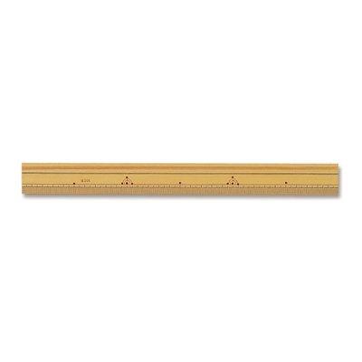 河口 洋裁用ものさし 竹尺 30cm 片目 42-043
