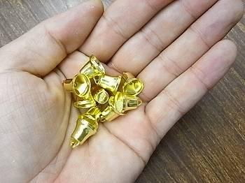 クリスマス ベル(鈴) 11ミリ ゴールド 10個入り