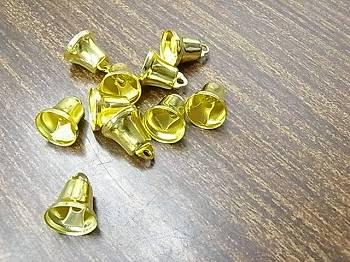 クリスマス ベル(鈴) 11ミリ ゴールド 10個入り 【参考画像1】