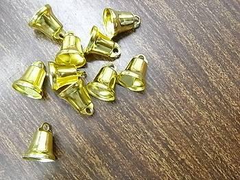 クリスマス ベル(鈴) 11ミリ ゴールド 10個入り 【参考画像2】