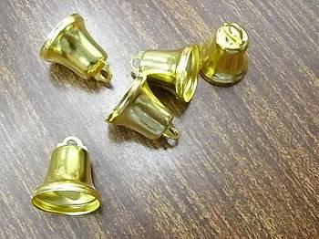 クリスマス ベル(鈴) 16ミリ ゴールド 5個入り 【参考画像1】