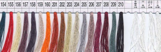 フジックス タイヤー 絹手縫い糸・絹カード 154〜210 【参考画像1】