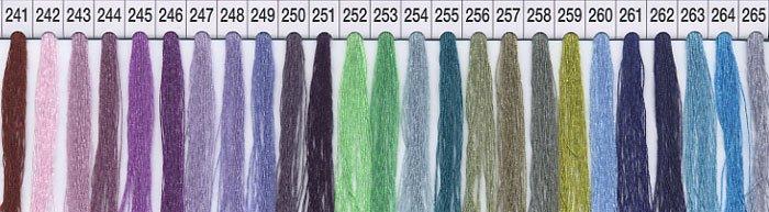 シャッペスパンミシン糸 60番 col.241〜265