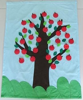 布の絵本キット りんごのタペストリーキット (原作:すずらん文庫)