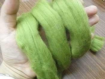 羊毛フェルト グリーン(水フェルト・フェルティングに最適)