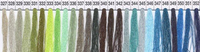 シャッペスパンミシン糸 60番 col.327〜352