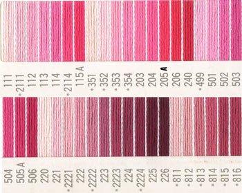 コスモ刺繍糸 25番 ピンク系 国産刺繍糸
