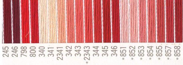 コスモ刺繍糸セット 25番 赤系 2