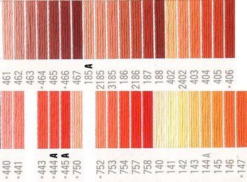 コスモ刺繍糸 25番 オレンジ系 国産刺繍糸