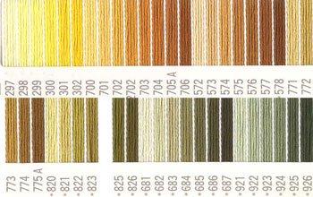 コスモ刺繍糸 25番 黄色系 国産刺繍糸