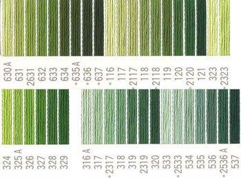 コスモ刺繍糸 25番 緑系 国産刺繍糸