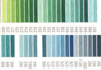 コスモ刺繍糸 25番 グリーン系 国産刺繍糸