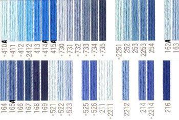 コスモ刺繍糸 25番 青系 国産刺繍糸