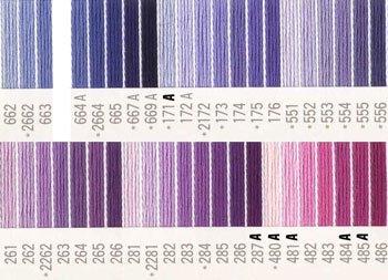 コスモ刺繍糸 25番 紫系 国産刺繍糸