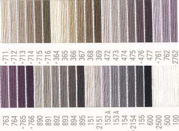 コスモ刺繍糸 25番 黒・白系 国産刺繍糸