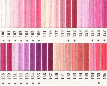 オリムパス刺繍糸 25番 ピンク・赤系 1
