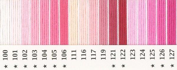 オリムパス刺繍糸 25番 ピンク・赤系 1 【参考画像1】