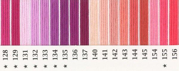 オリムパス刺繍糸 25番 ピンク・赤系 1 【参考画像2】