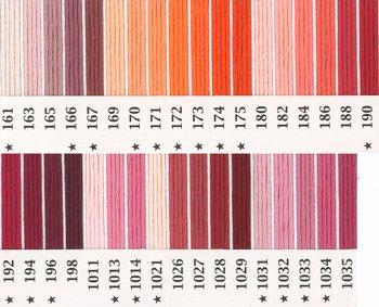オリムパス刺繍糸 25番 ピンク・赤系 2