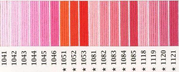 オリムパス刺繍糸 25番 ピンク・赤系 3 【参考画像1】
