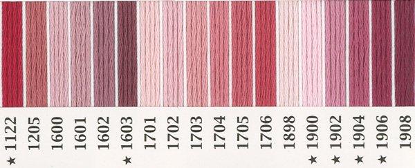 オリムパス刺繍糸 25番 ピンク・赤系 3 【参考画像2】
