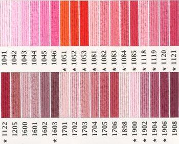 オリムパス刺繍糸 25番 ピンク・赤系 3