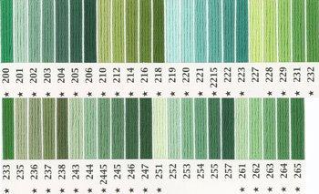 オリムパス刺繍糸 25番 緑・黄緑色系 1