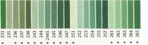 オリムパス刺繍糸 25番 緑・黄緑色系 1 【参考画像2】