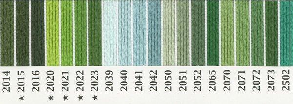 オリムパス刺繍糸 25番 緑・黄緑色系 2 【参考画像2】