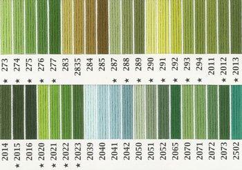 オリムパス刺繍糸 25番 緑・黄緑色系 2