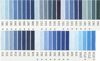 オリムパス刺繍糸 25番 青・水色系 1