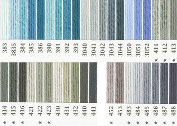 オリムパス刺繍糸 25番 青・水色系 2